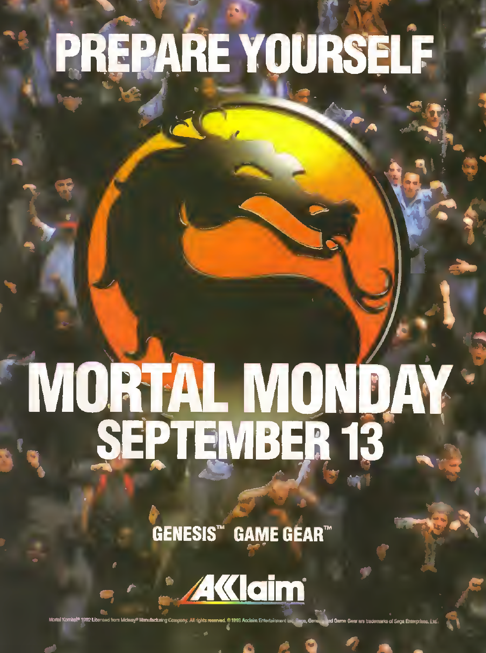 MORTAL MONDAY PRINT AD