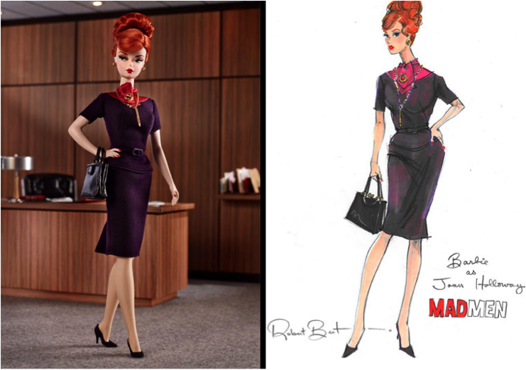 Joan Holloway doll and lithograph