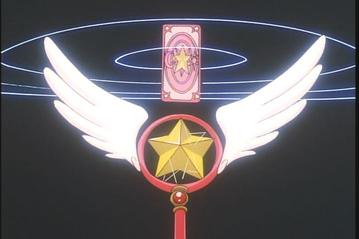 Cardcaptor Sakura's staff, which she uses to transform.