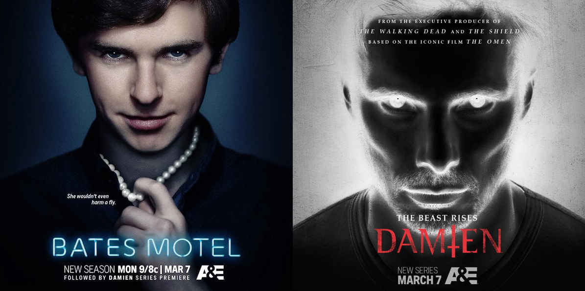 Posters for The Bates Motel and Damien