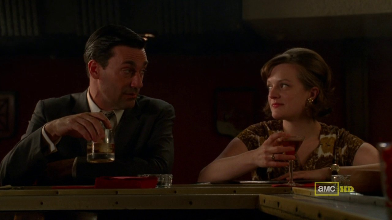 Peggy and Don at a Bar
