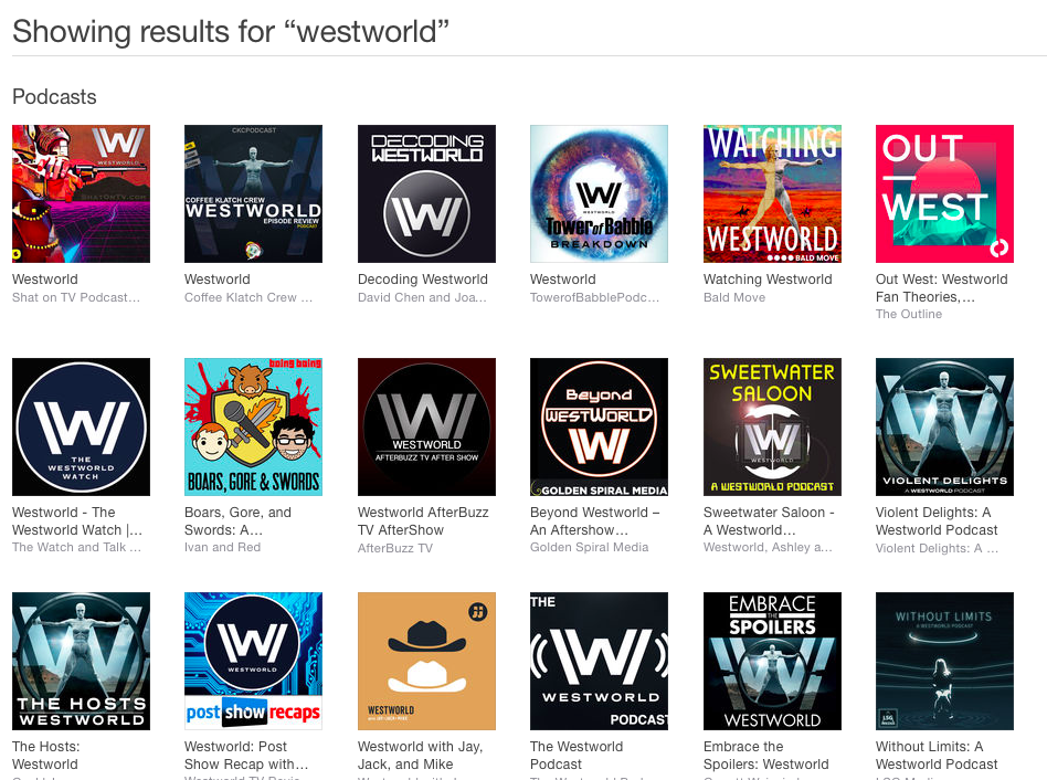Westworld Podcasts