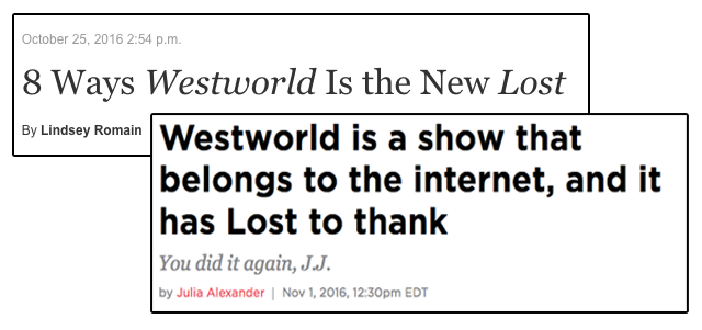 Screencap of Westworld Articles