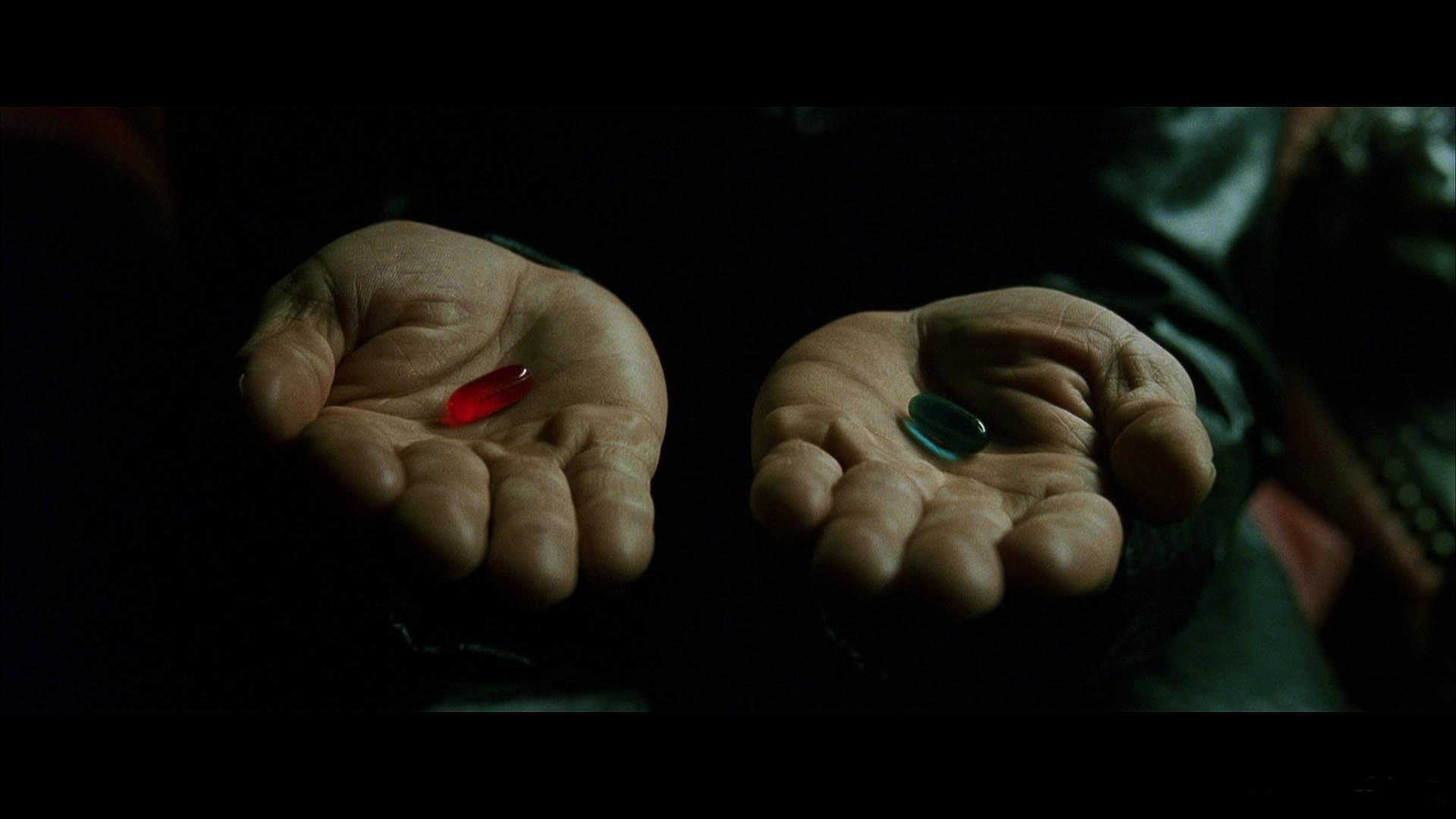 Red or Blue Pill from The Matrix