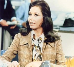 Mary Tyler Moor as Mary Richards in The Mary Tyler Moore Show