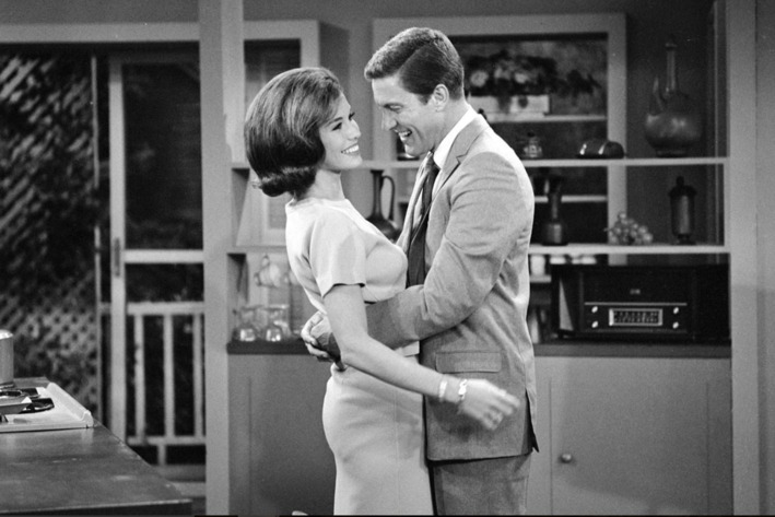 We might as well start where so many episodes of The Dick Van Dyke Show  (CBS, 1961-1966) do: with our goofy hero, Rob Petrie (Van Dyke), tripping  over the ...