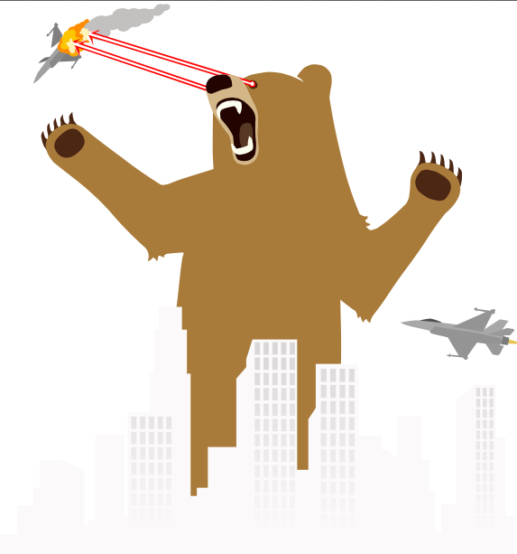 TunnelBear Avatar's Violence Towards Unfriendly Internet Bots