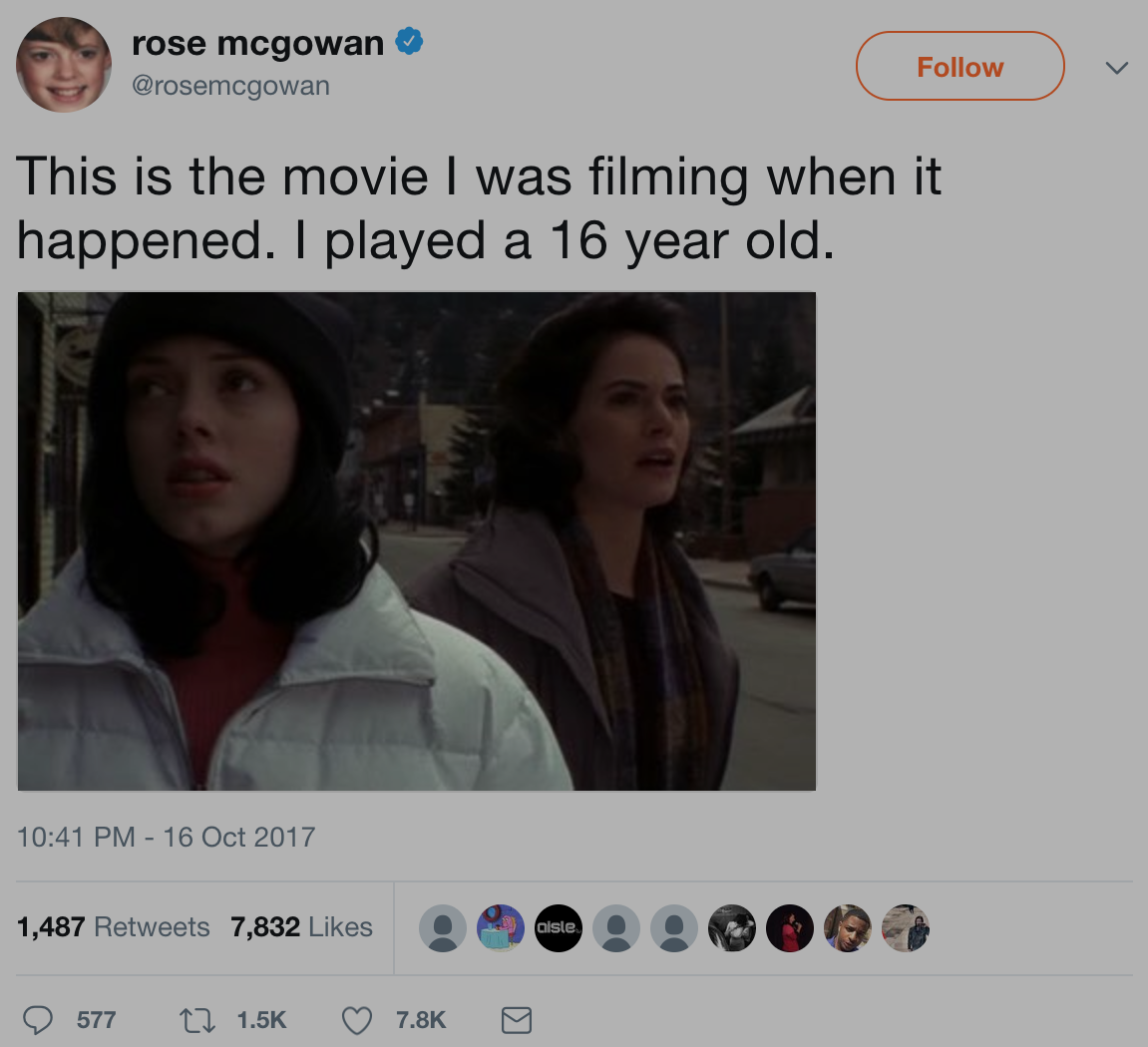 Rose McGowan Tweet
