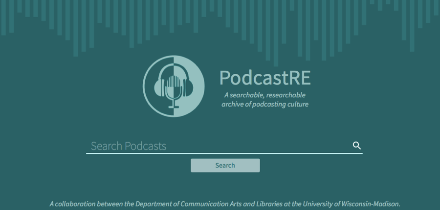 screenshot of PodcastRE