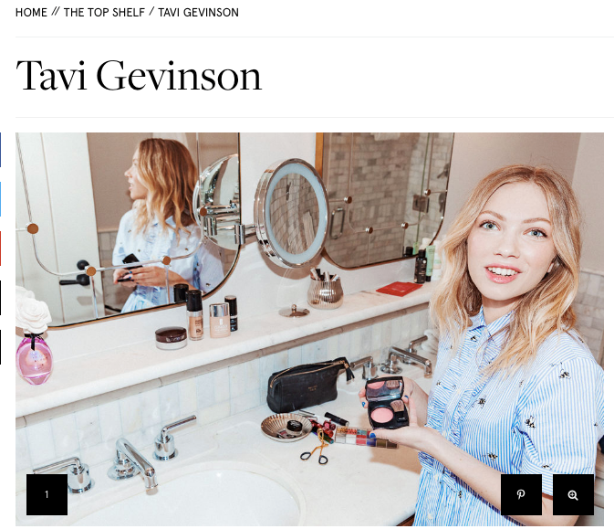 Tavi Gevinson poses in her bathroom for Into the Gloss