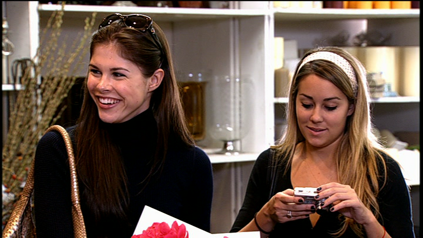 Emily Weiss and Lauren Conrad smile in a still from The Hills