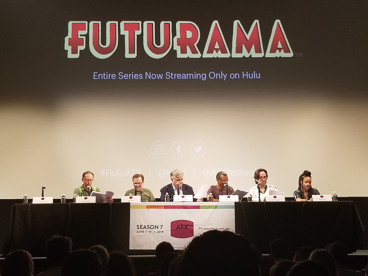 Atx Television Festival 2018 Flow Rtx Led Wiring Harness Futurama Table Read