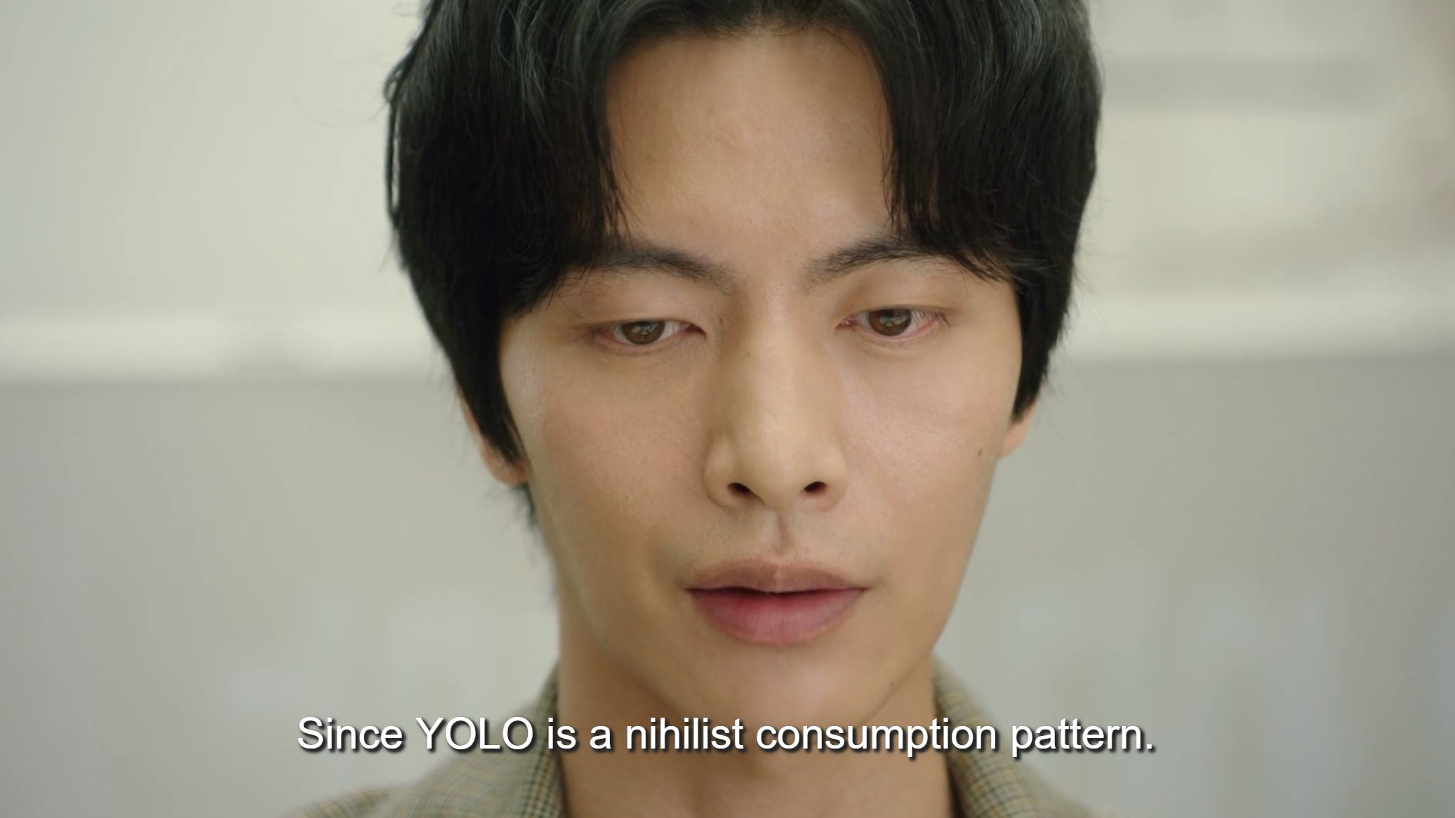 A line from Because This Is My First Life as subtitled by Viki