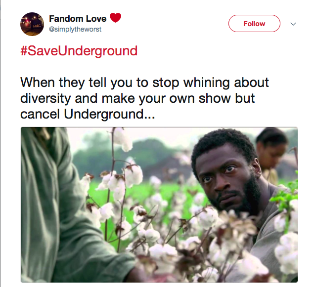 tweet from underground fan