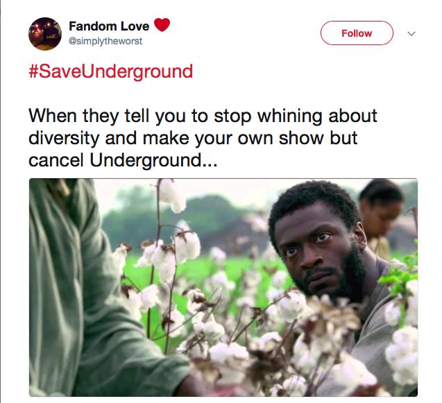 tweet from underground fan