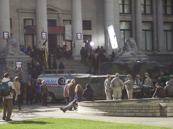 Blogger's photo of the set of USA's The 4400