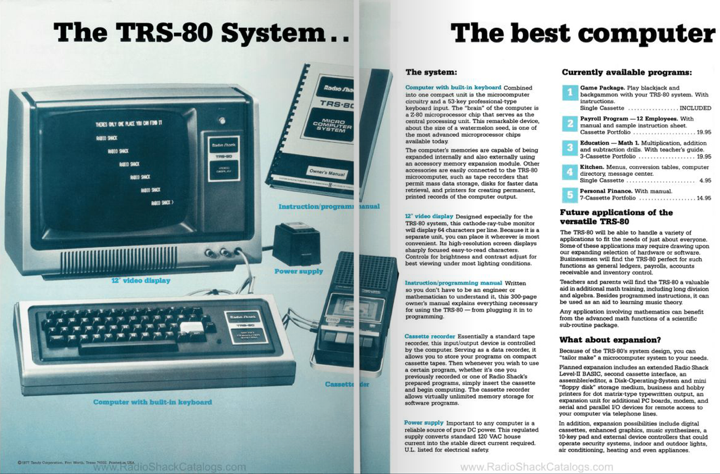 From the 1977 TRS-80 catalog.