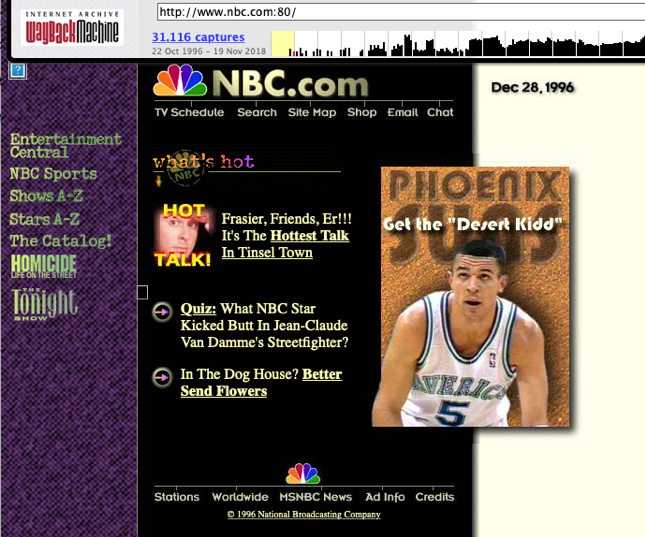 NBC.com December 28, 1996 via the Wayback Machine.