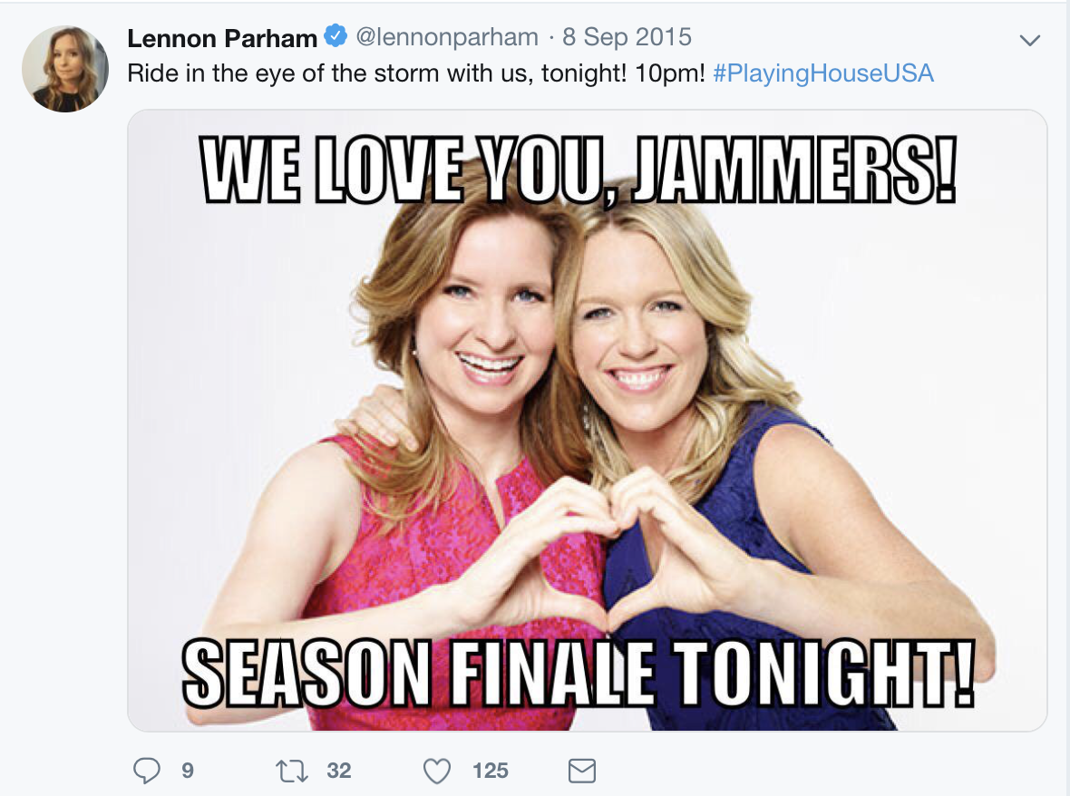 Screenshot of Lennon Parham's Twitter account