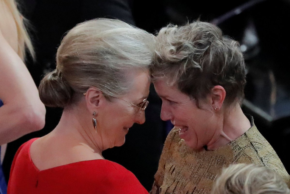 McDormand and Streep at the 2018 Academy Awards
