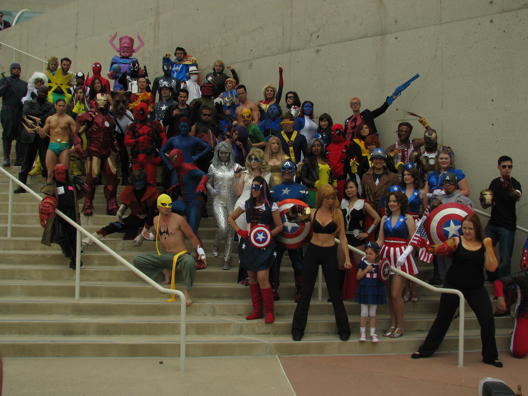 SDCC Marvel Group Shot