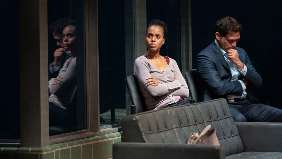 Kerry Washington and Steven Pasquale in American Son