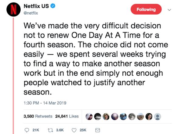 Netflix cancels ODAAT