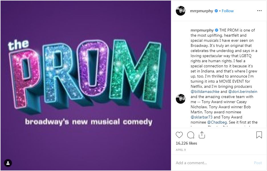 Ryan Murphy announces The Prom
