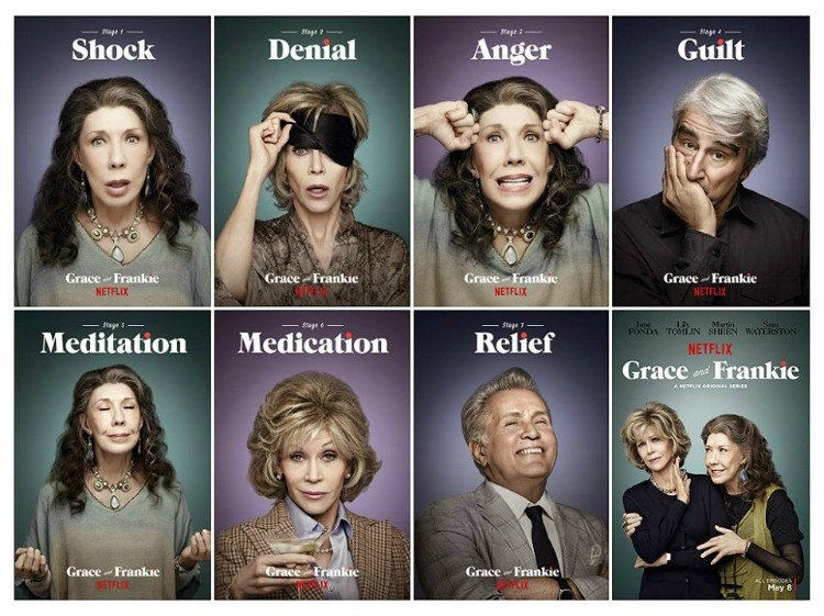 Netflix promo images for Grace and Frankie=