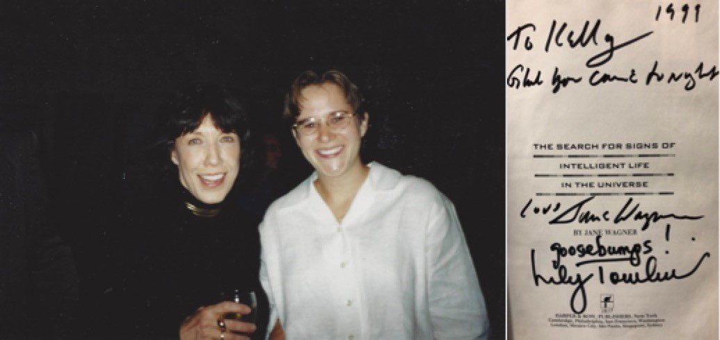 Photo of author with Lily Tomlin