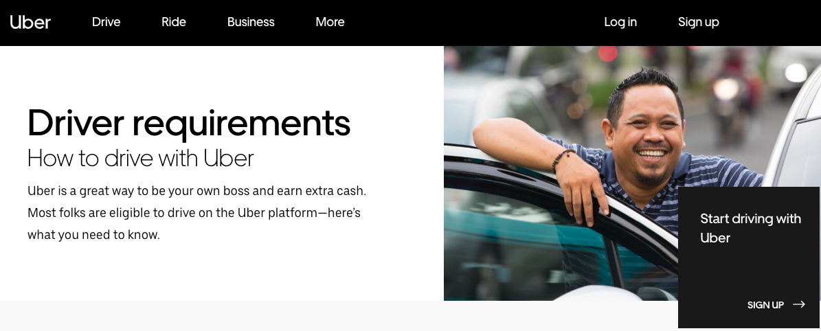 Uber's ad to drivers