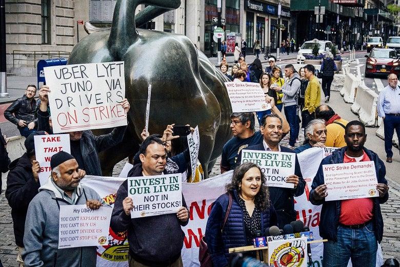 Uber Workers Strike NYC