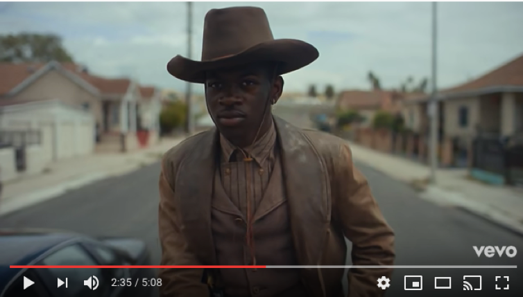 Lil Nas X in Western apparel