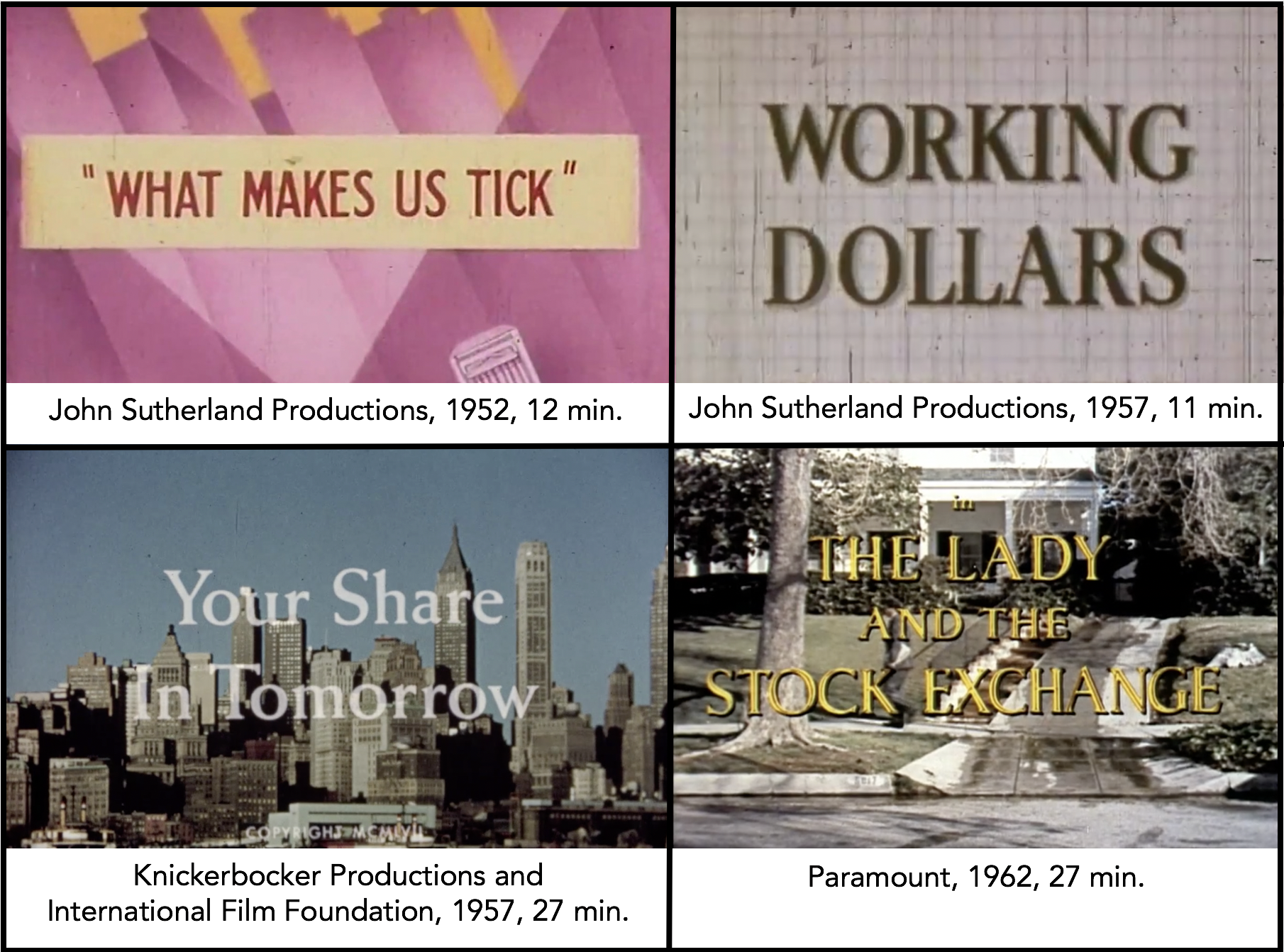 Title cards from NYSE training videos