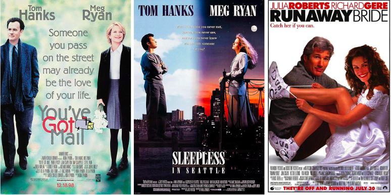 You've Got Mail (Ephron, 1998), Sleepless in Seattle (Ephron, 1993), Runaway Bride (Marshall, 1999)