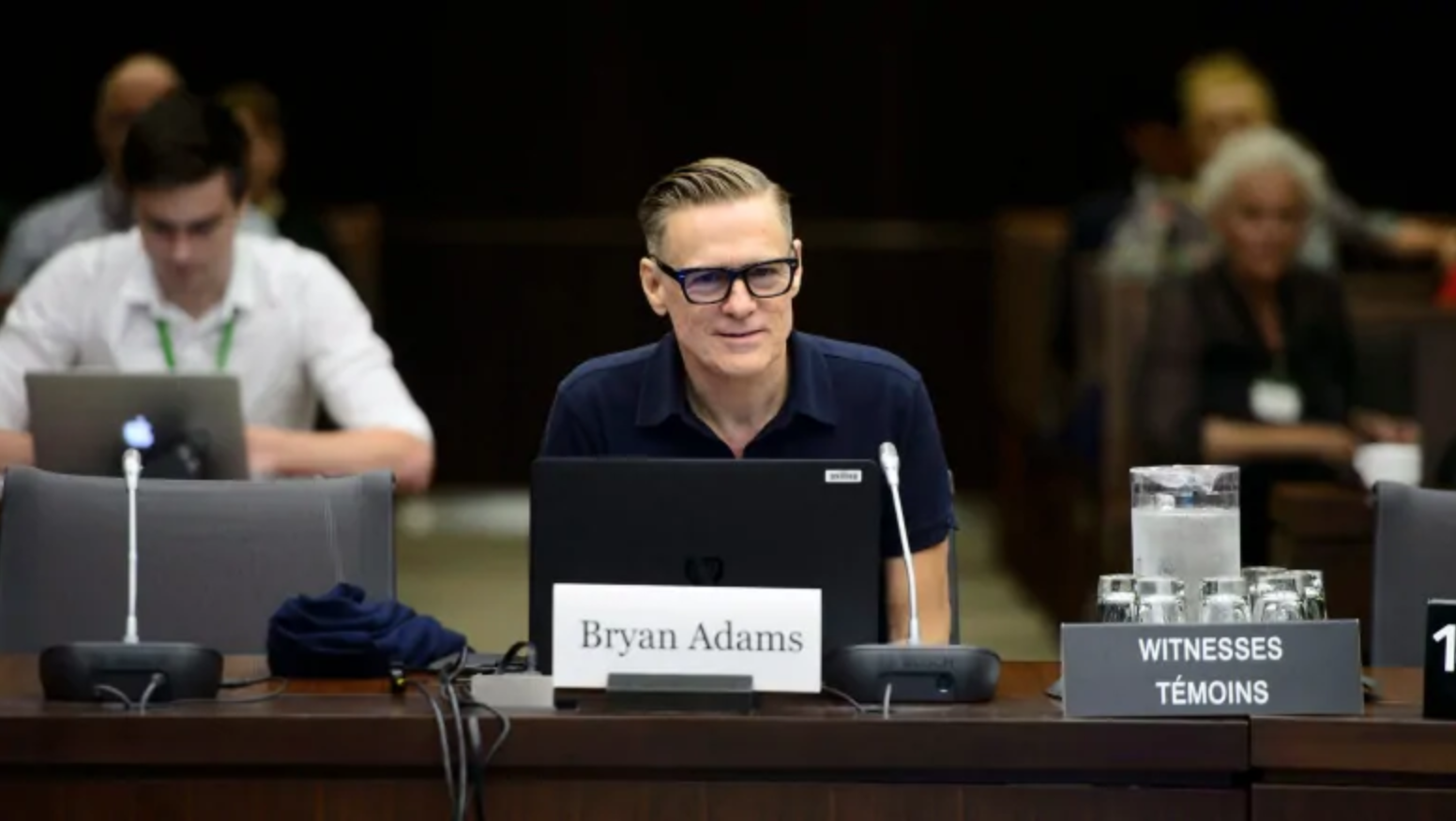 Musician Bryan Adams before standing committee on Canadian Heritage