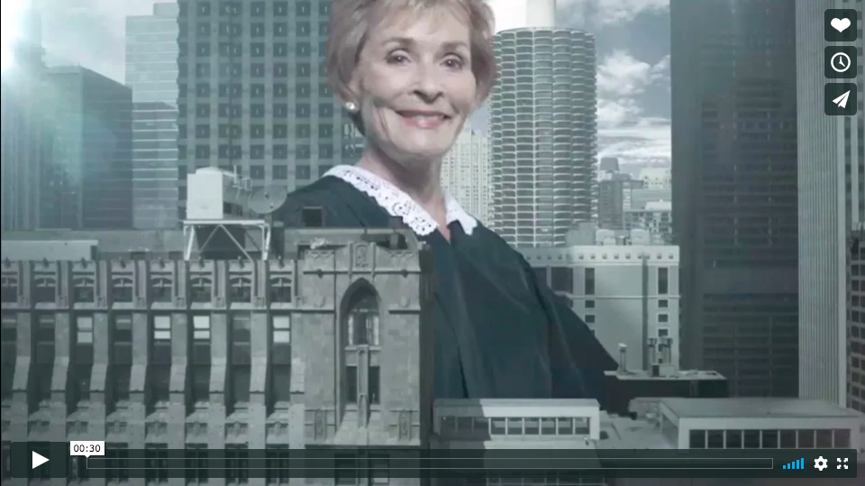 An example of an ad made by a Judge Judy exhibitor