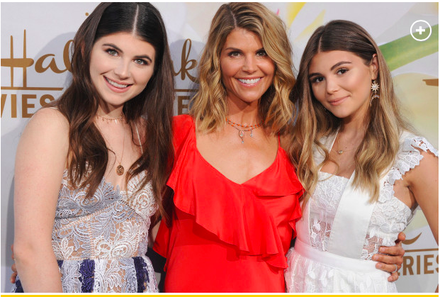 Lori Loughlin with daughters