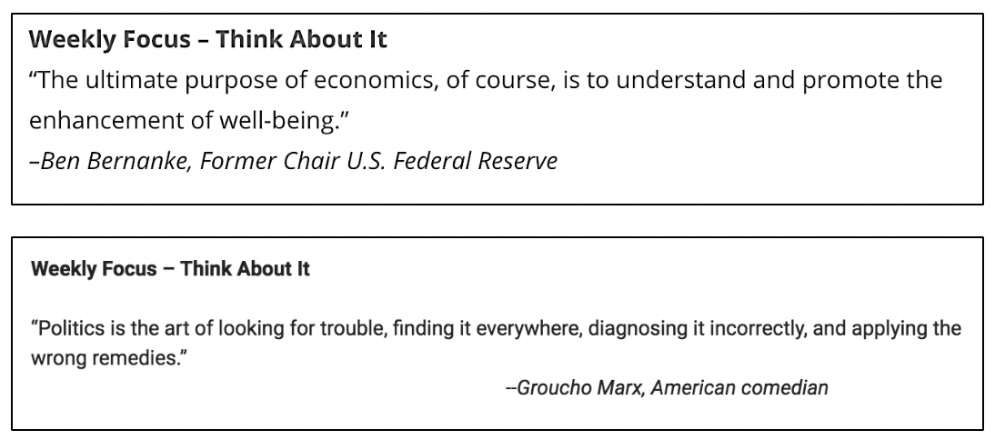 Wise words from Market Commentary from 2/8/16