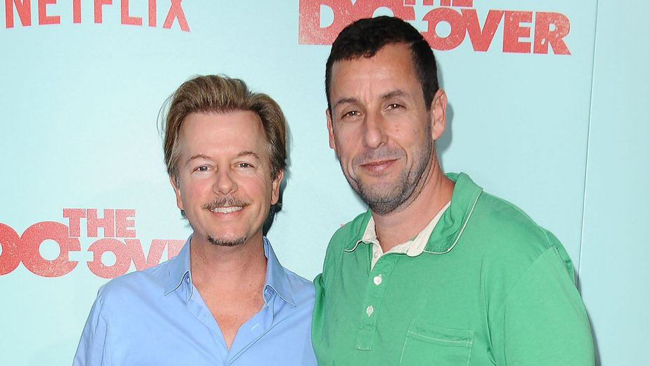 David Spade, left and Adam Sandler, right