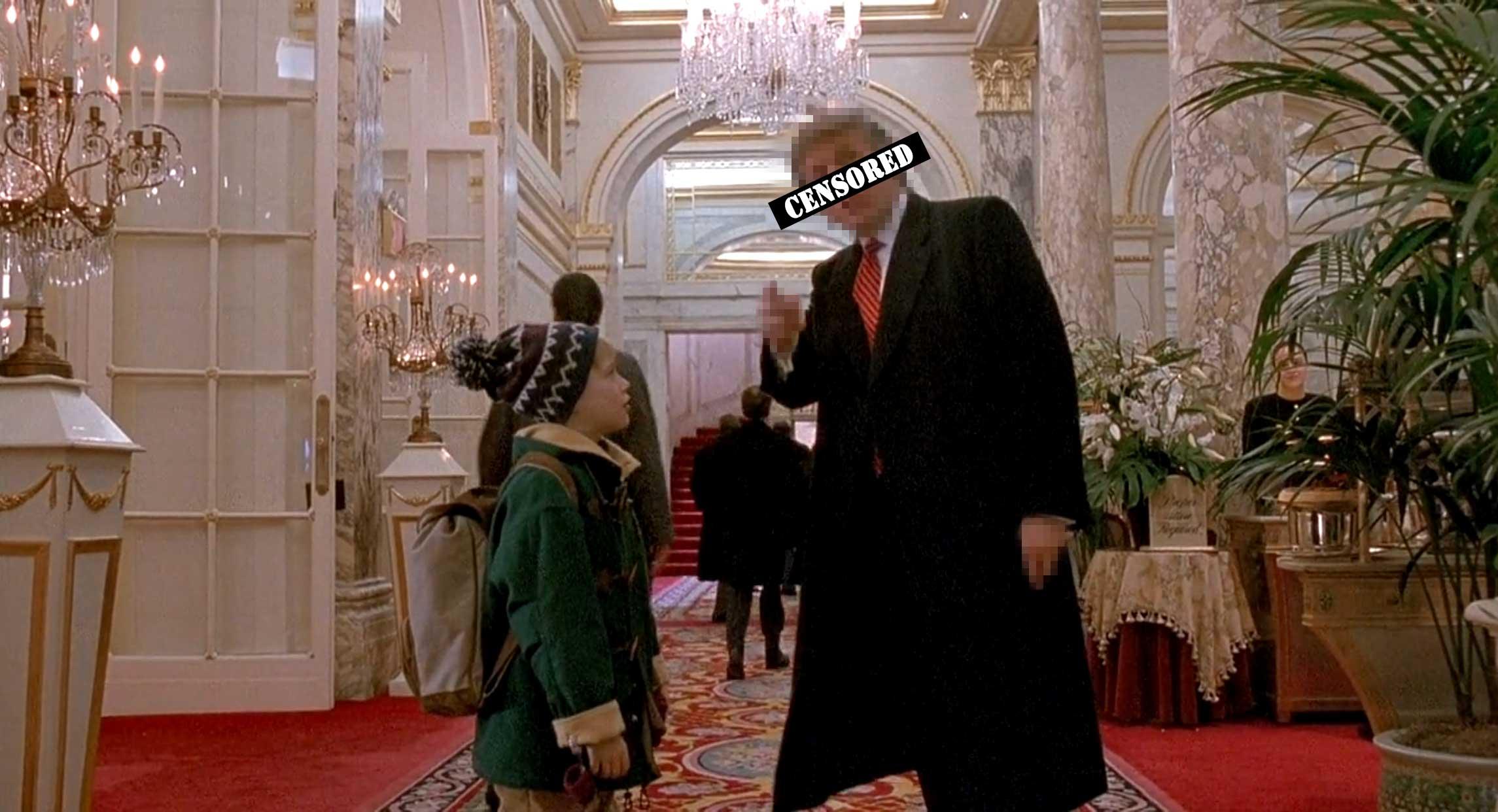 Edited still from Home Alone 2