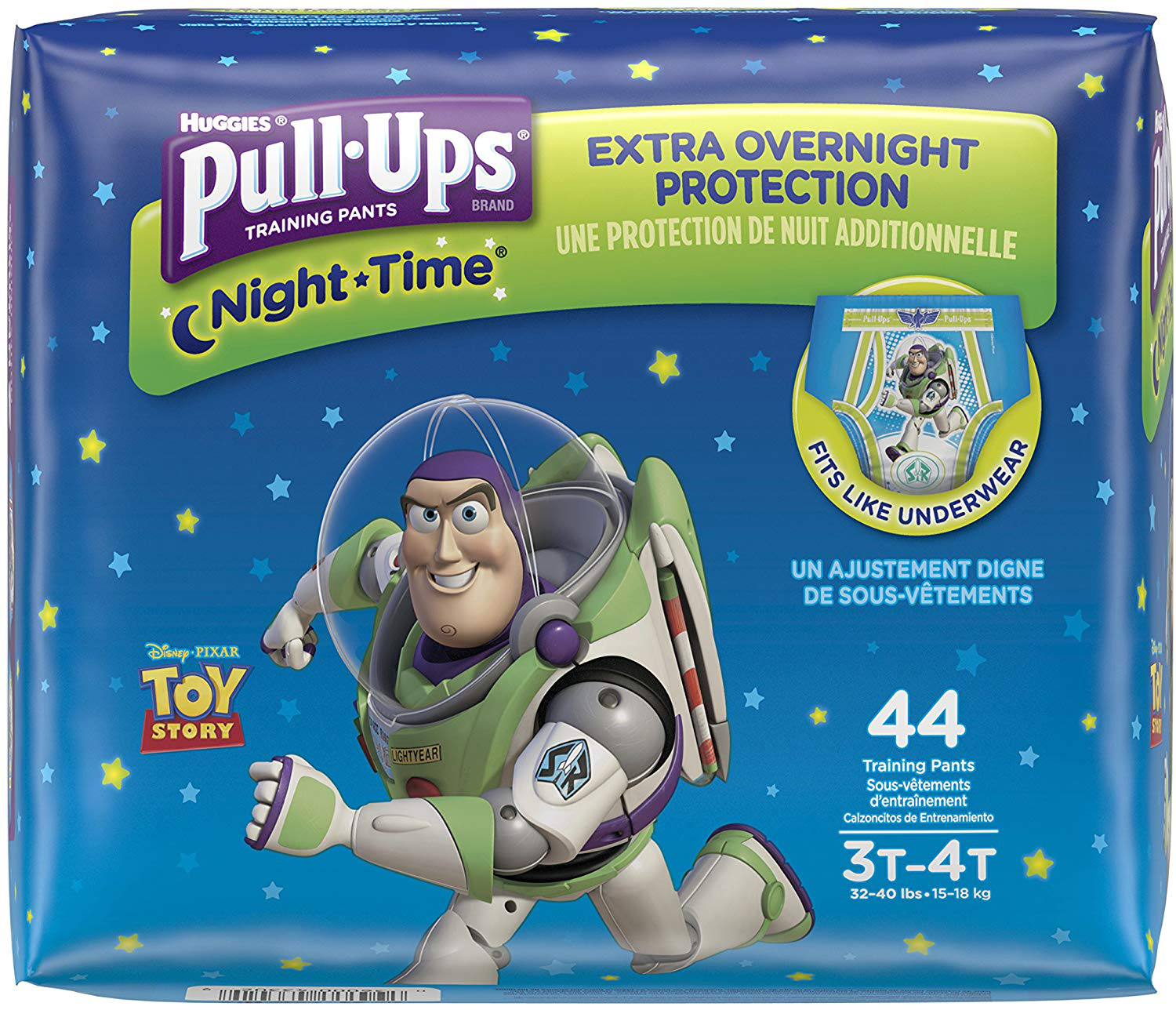 Huggies Pull-Ups are available in a variety of Disney brands, including Toy Story