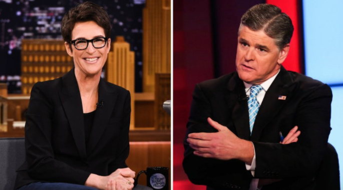 Rachel Maddow and Sean Hannity