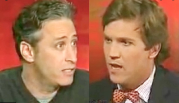 Jon Stewart and Tucker Carlson