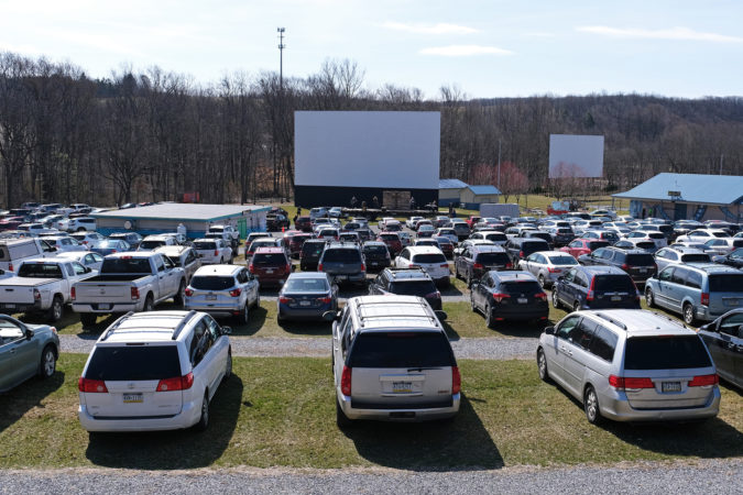 Easter 2020 church service at Becky's Drive-In Theatre (Walnutport, PA)