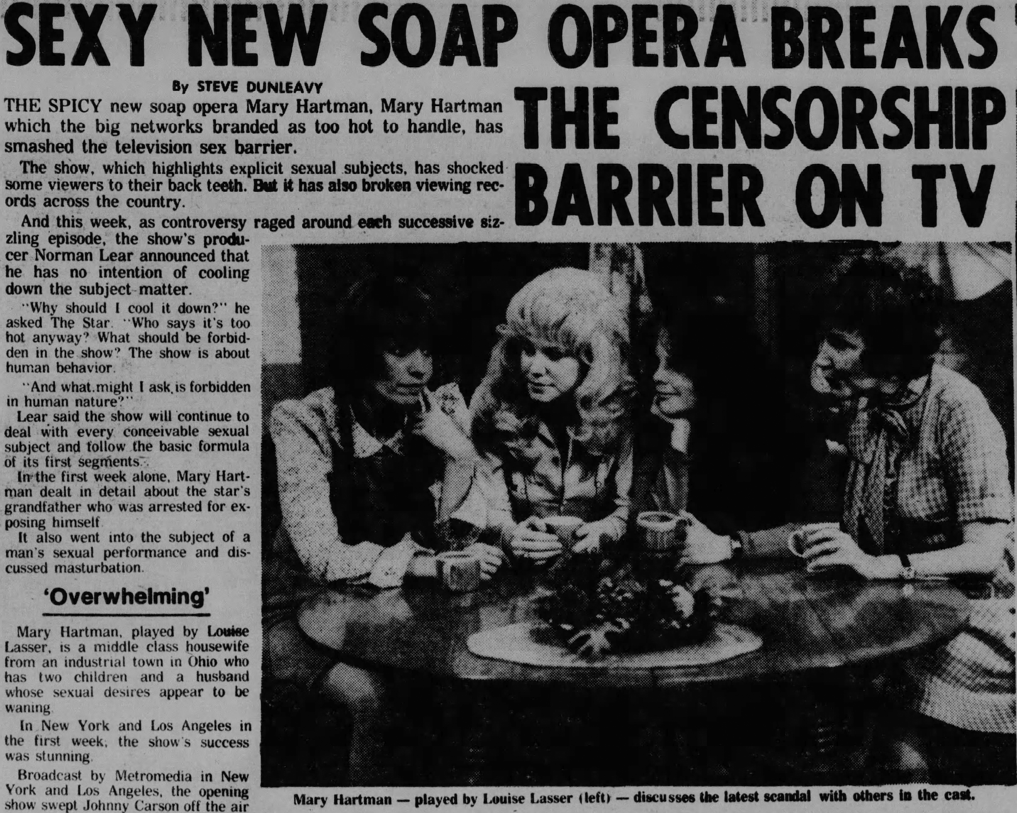 San Antonio Express review of Mary Hartman