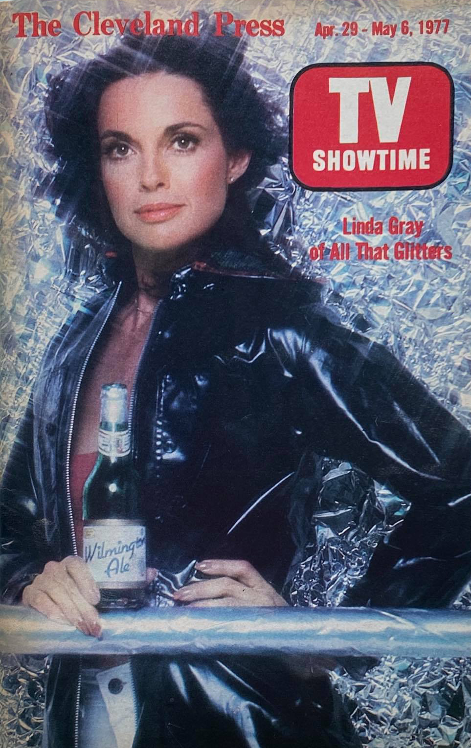 Magazine cover with Linda Murkland