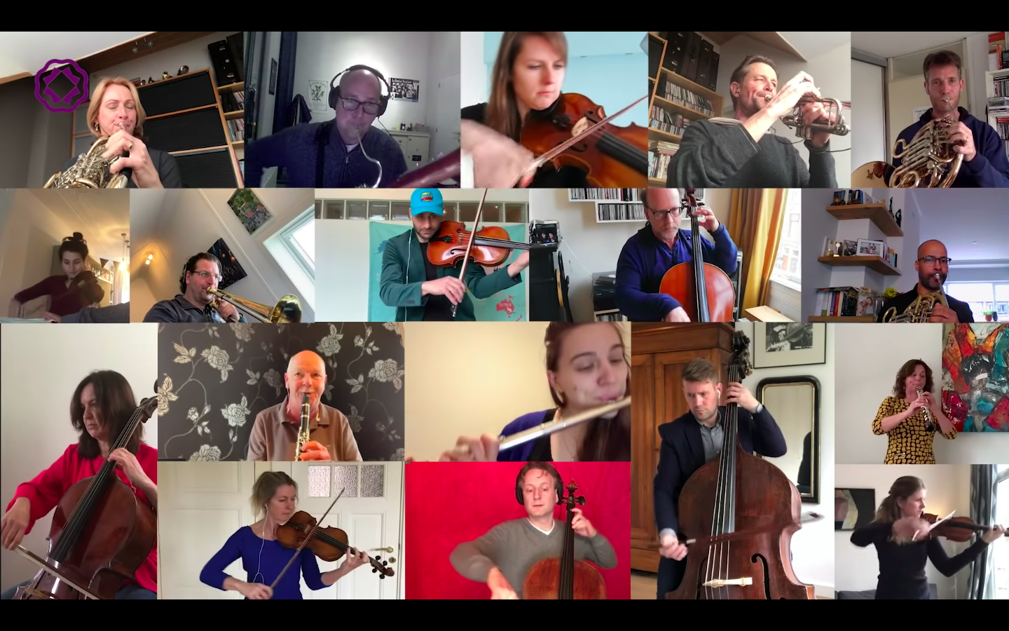 The Rotterdam Philharmonic give a Skype performance of Beethoven's 9th Symphony