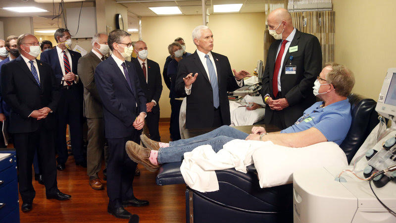 Vice President Mike Pence Visits the Mayo Clinic