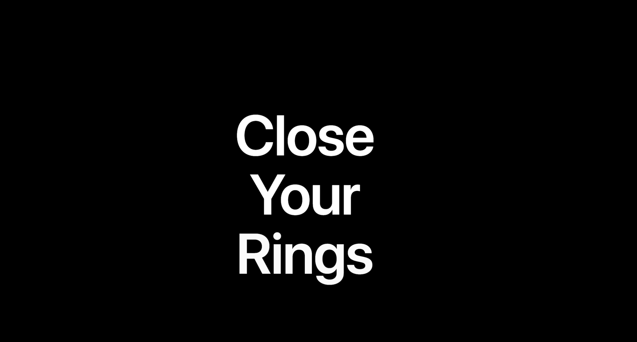 An ominous graphic from the Apple Watch Activity website that reads 'Close Your Rings'.